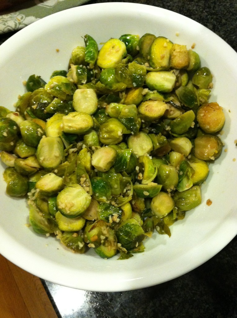 Recipe: Easy Lemon & Garlic Brussel Sprouts