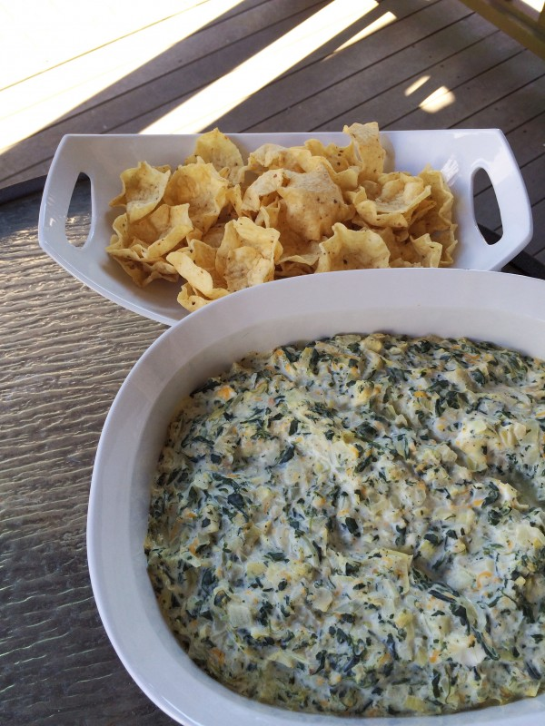 Spinach Artichoke Dip - Recipe on DailyKaty.com