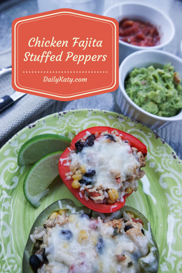 Chicken Fajita Stuffed Pepper Recipe on DailyKaty.com