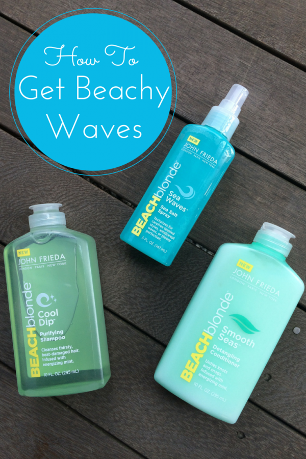 John Frieda Beach Waves Tutorial on DailyKaty.com