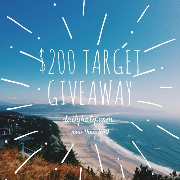 $200 Target Gift Card Giveaway on DailyKaty.com
