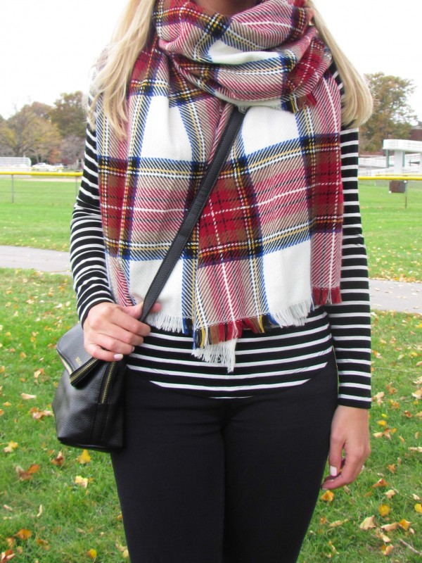 Blanket Scarf Season - this one is under $20! Shop the look on DailyKaty.com
