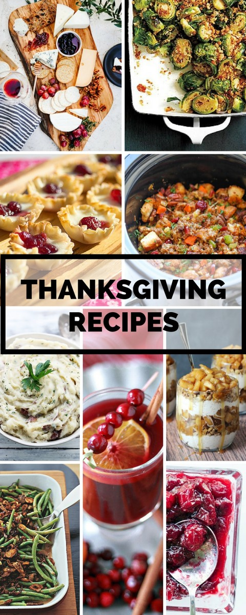 Thanksgiving Recipe Ideas - this is what I'll be cooking!