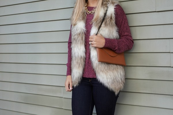 Fur Vest Season {Shop the Look on DailyKaty.com}