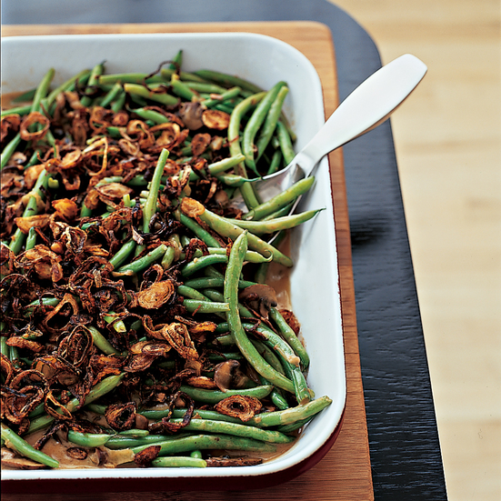 Thanksgiving Recipes: Green Beans with Cremini Mushrooms