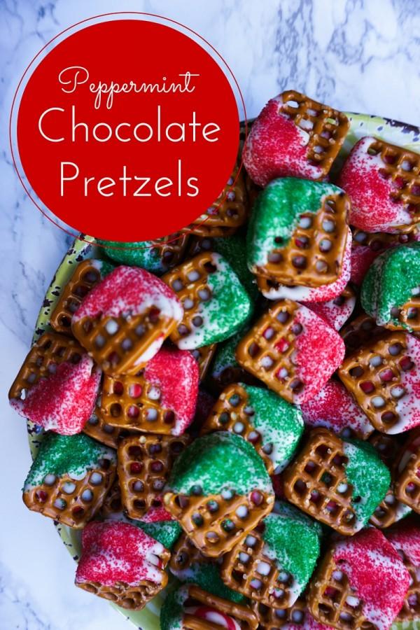 Peppermint Chocolate Pretzels {Recipe}