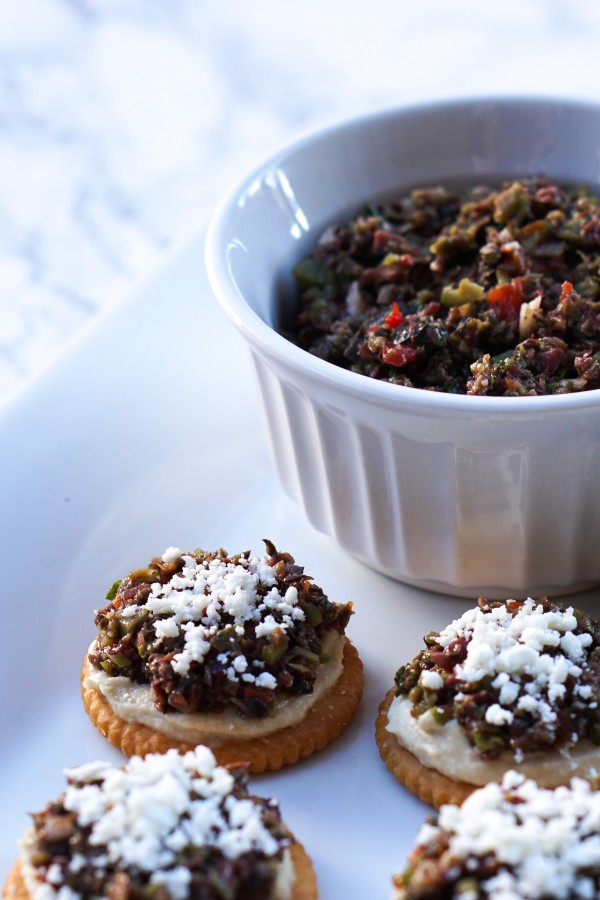 Layered Three-Olive Tapenade Appetizer Recipe