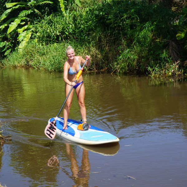 Travel Guide of Princeville, Kauai, Hawaii - Shown here: SUP in Hanalei