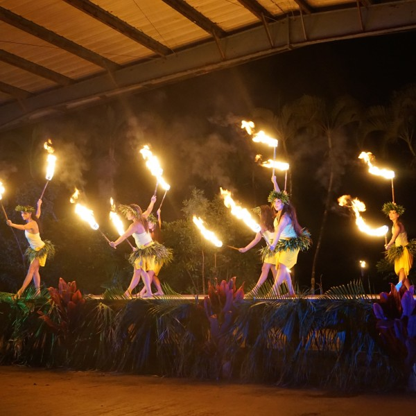 Travel Guide of Princeville, Kauai, Hawaii - Shown here: Ahi Lehe Fire Show