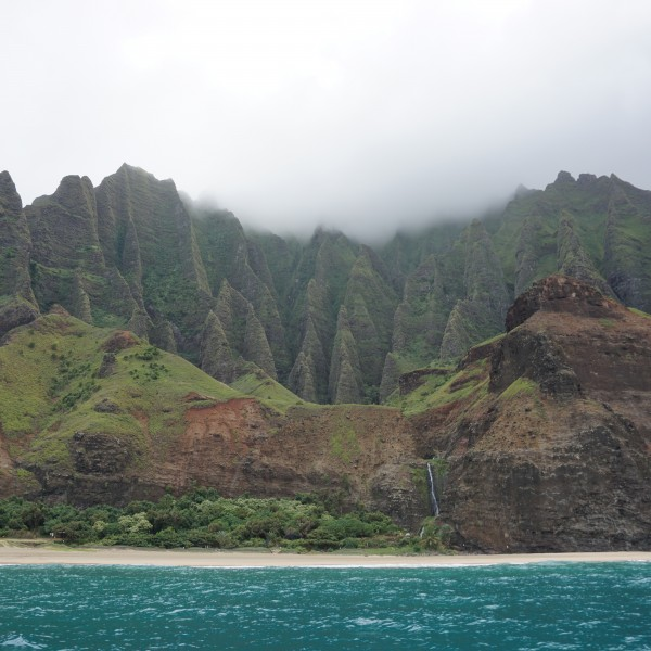 Travel Guide of Princeville, Kauai, Hawaii - Shown here: Boat Tour of Napali Coast