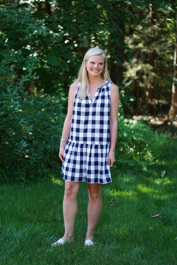 Gingham Dress on DailyKaty.com #loveloft