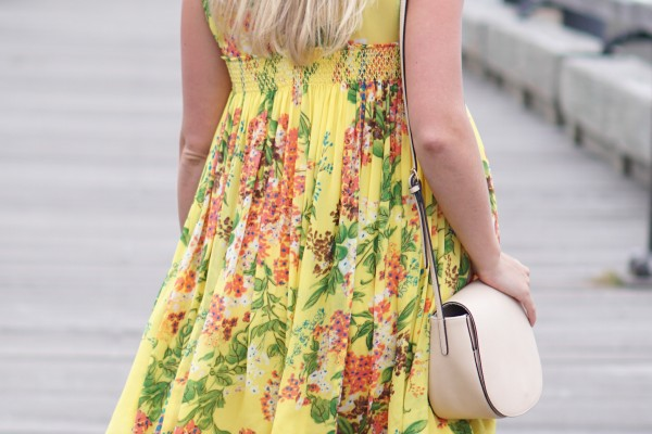Yellow Floral Dress on DailyKaty.com