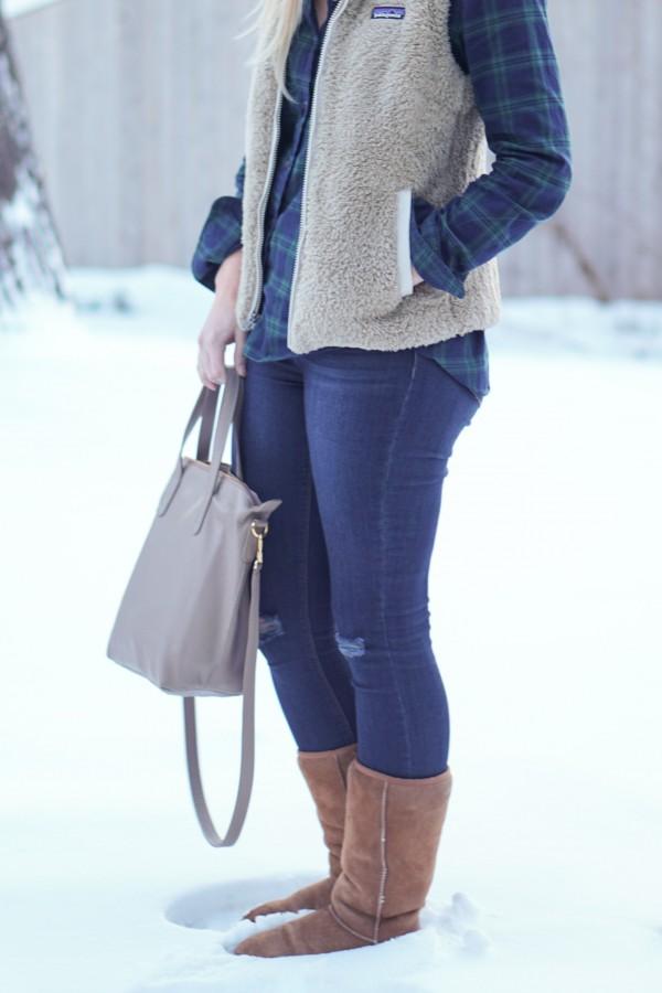 Cozy Vest & Flannel Outfit