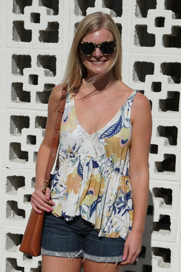 Floral Tank Top in Palm Springs