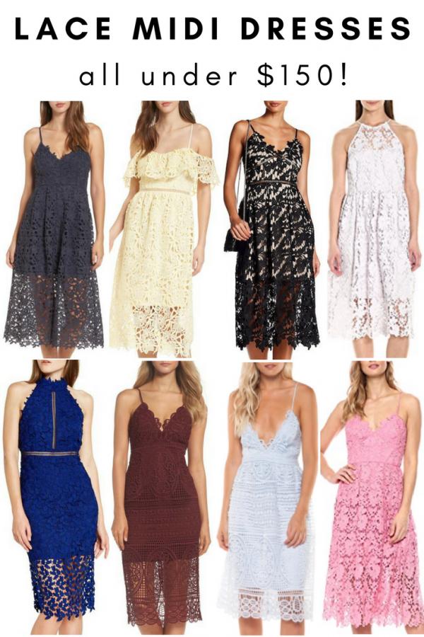 Lace Midi Dress - Wedding Season