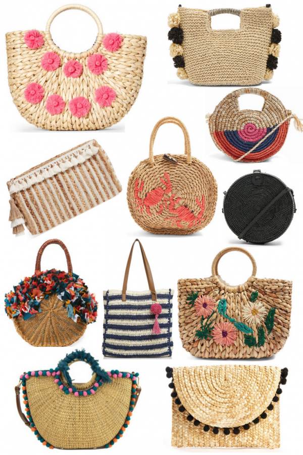 Straw Bags for Vacation, Spring & Summer